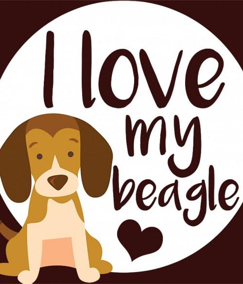 Szeretem a beagle-met Póló - Ha Dog rajongó ezeket a pólókat tuti imádni fogod!