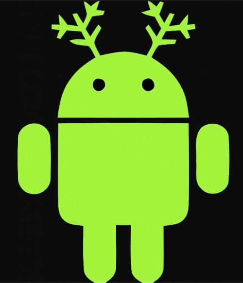 Christmas Rudolf Android Póló - Ha Christmas rajongó ezeket a pólókat tuti imádni fogod!