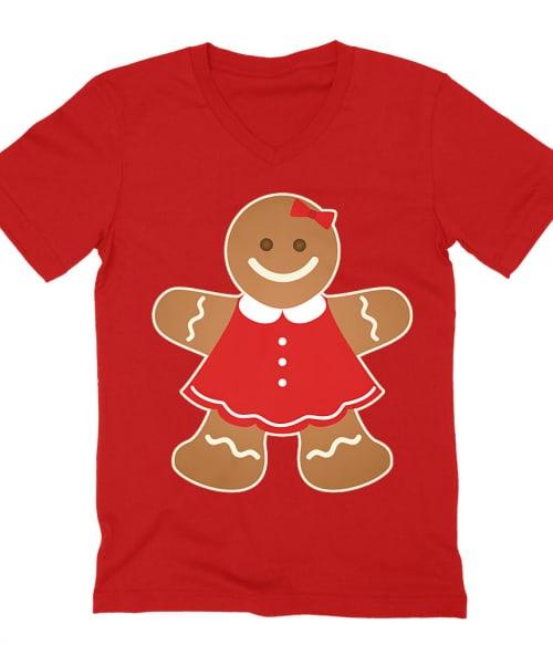 Gingerbread Girl Póló - Ha Christmas rajongó ezeket a pólókat tuti imádni fogod!
