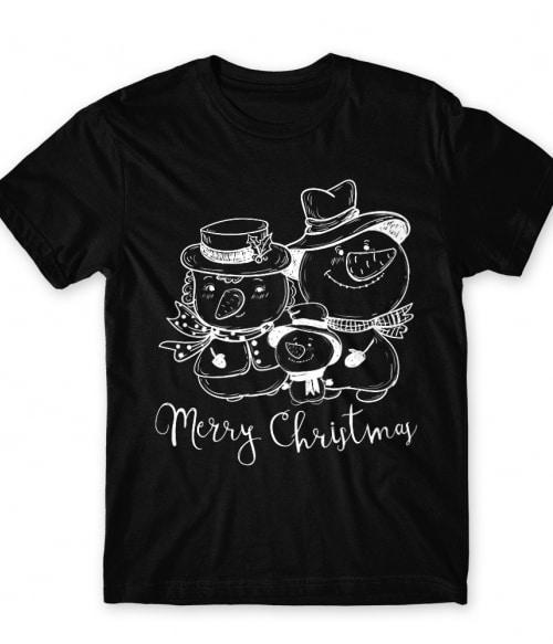 Snowman Family Póló - Ha Christmas rajongó ezeket a pólókat tuti imádni fogod!