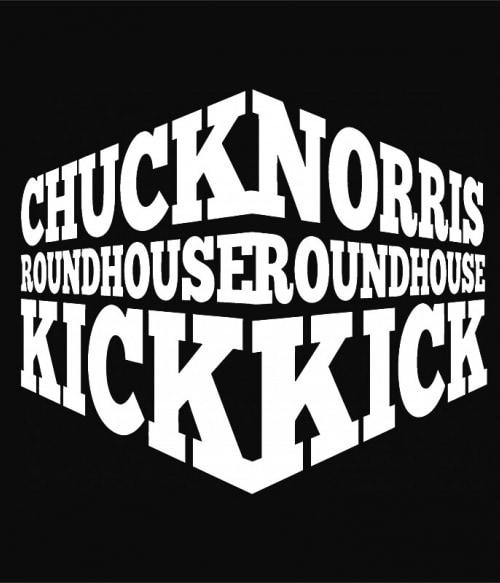Chuck Norris roundhouse kick Póló - Ha Legends rajongó ezeket a pólókat tuti imádni fogod!