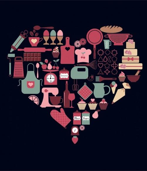 Baking heart Póló - Ha Hobby rajongó ezeket a pólókat tuti imádni fogod!