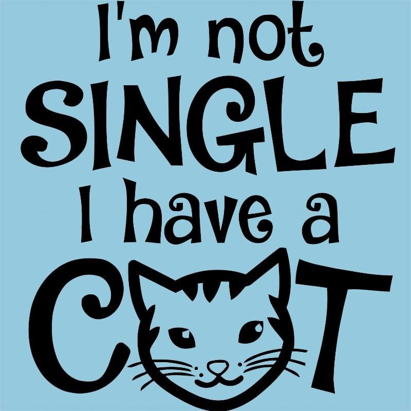 I am not single I have a cat Póló - Ha Cat rajongó ezeket a pólókat tuti imádni fogod!