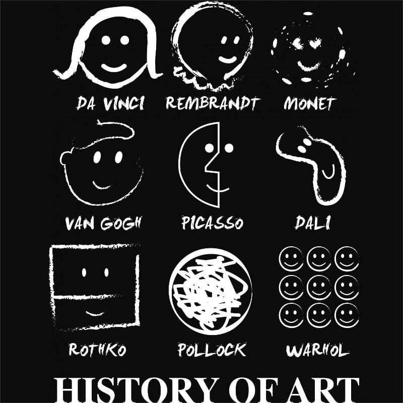 Művészettörténet Póló - Ha Hobby rajongó ezeket a pólókat tuti imádni fogod!