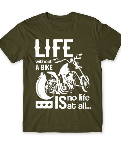 Life without a bike Póló - Ha Hobby rajongó ezeket a pólókat tuti imádni fogod!
