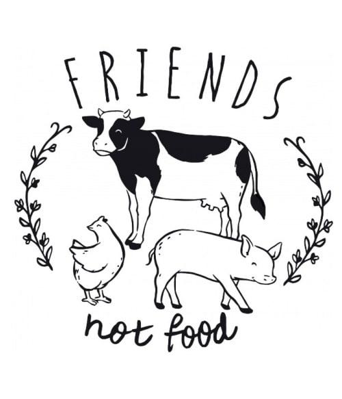 Friends not food Póló - Ha Vegetarian rajongó ezeket a pólókat tuti imádni fogod!