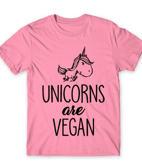 Az unikornisok vegák Póló - Ha Vegetarian rajongó ezeket a pólókat tuti imádni fogod!