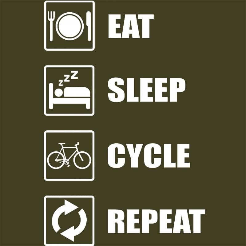 Eat sleep repeat cycle Póló - Ha Hobby rajongó ezeket a pólókat tuti imádni fogod!