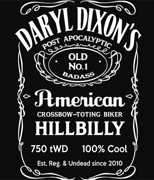 Jack Daniel's Daryl Dixon Póló - Ha The Walking Dead rajongó ezeket a pólókat tuti imádni fogod!