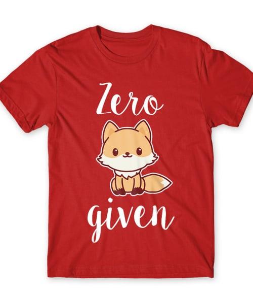 Zero fox given Póló - Ha Fox rajongó ezeket a pólókat tuti imádni fogod!