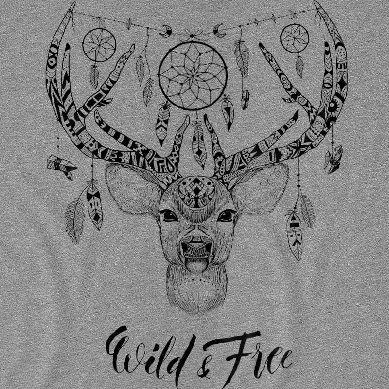 Wild and free deer Póló - Ha Deer rajongó ezeket a pólókat tuti imádni fogod!