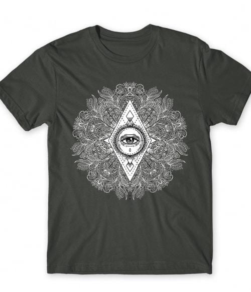 Geometrikus Mindent látó szem Póló - Ha India rajongó ezeket a pólókat tuti imádni fogod!