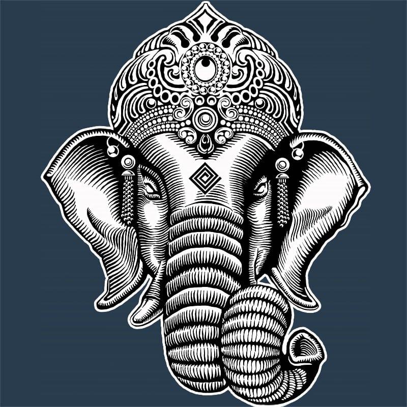Genesa Head Linework Style Póló - Ha India rajongó ezeket a pólókat tuti imádni fogod!