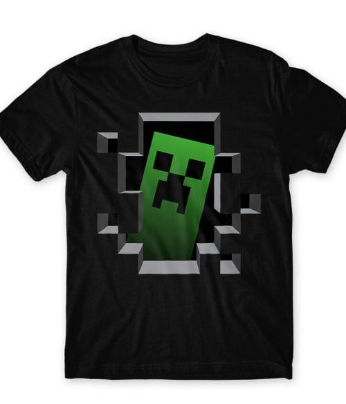 Creeper in the hole Póló - Ha Minecraft rajongó ezeket a pólókat tuti imádni fogod!