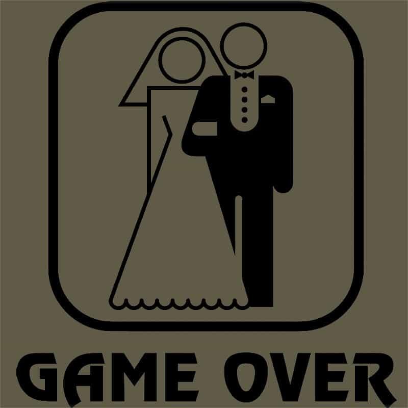 8a66009f48 Game Over Logo. Select Options · Leánybúcsú dátum Póló - Ha Bachelorette  Party ...