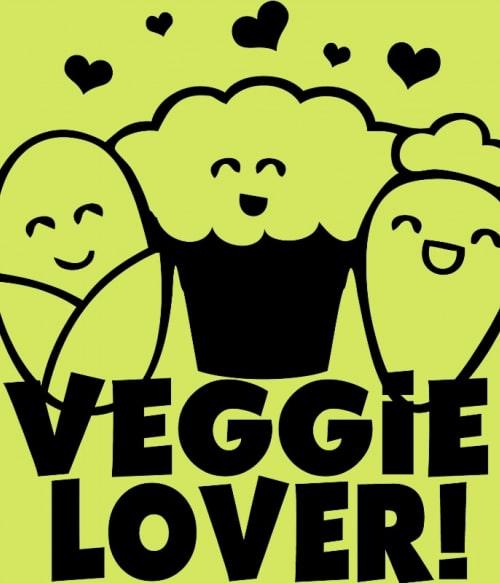 Cute veggie lover Póló - Ha Vegetarian rajongó ezeket a pólókat tuti imádni fogod!