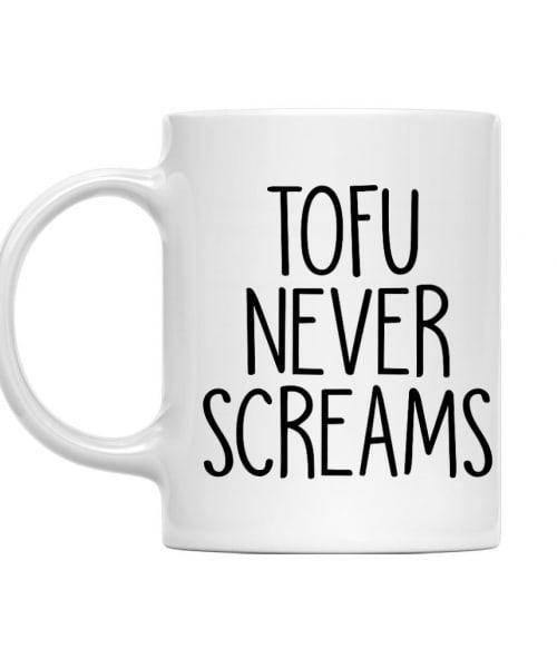 Tofu never screams Póló - Ha Vegetarian rajongó ezeket a pólókat tuti imádni fogod!