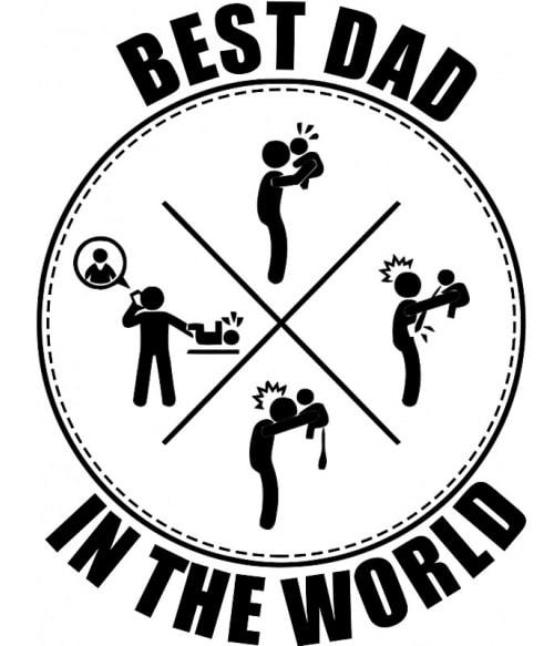 Best dad in the world icons Póló - Ha Family rajongó ezeket a pólókat tuti imádni fogod!