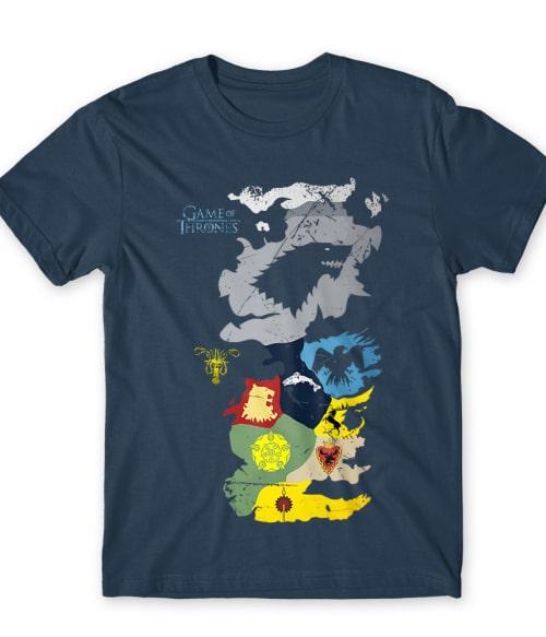 Game of thrones map Póló - Ha Game of Thrones rajongó ezeket a pólókat tuti imádni fogod!