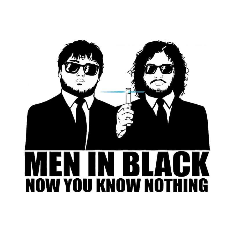 GoT Men in Black Póló - Ha Game of Thrones rajongó ezeket a pólókat tuti imádni fogod!