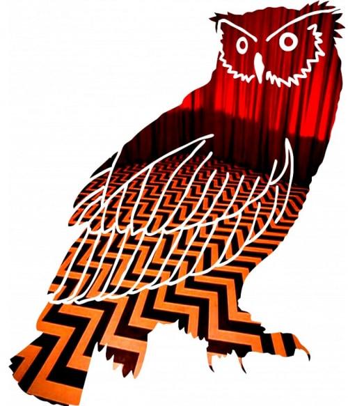 Redroom owl Póló - Ha Twin Peaks rajongó ezeket a pólókat tuti imádni fogod!