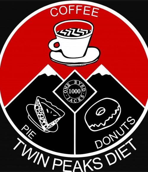 Twin Peaks diet Póló - Ha Twin Peaks rajongó ezeket a pólókat tuti imádni fogod!