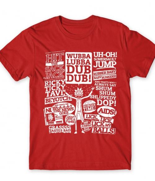 Rick and Morty Text Graphic Póló - Ha Rick and Morty rajongó ezeket a pólókat tuti imádni fogod!