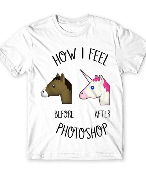 Before After Photoshop Unicorn Póló - Ha Unicorn rajongó ezeket a pólókat tuti imádni fogod!