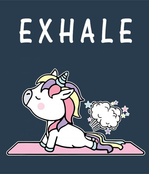 Unicorn exhale Póló - Ha Unicorn rajongó ezeket a pólókat tuti imádni fogod!