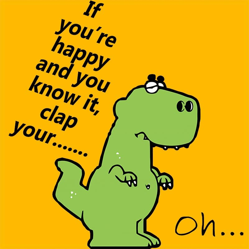 Happy T-rex Póló - Ha Fun Texts rajongó ezeket a pólókat tuti imádni fogod!