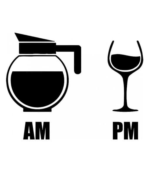 Am Pm Coffee Wine Póló - Ha Drinks rajongó ezeket a pólókat tuti imádni fogod!