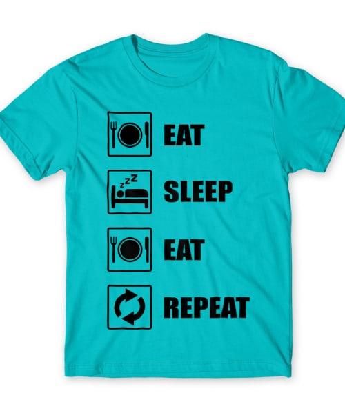 Eat Sleep Eat Póló - Ha Food rajongó ezeket a pólókat tuti imádni fogod!