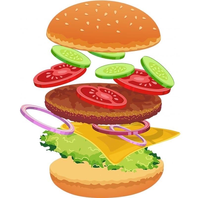 Hamburger Póló - Ha Food rajongó ezeket a pólókat tuti imádni fogod!