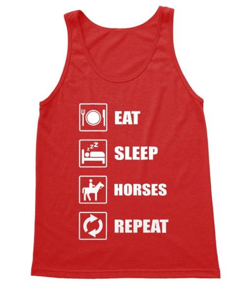 Eat Sleep Horses Póló - Ha Horse rajongó ezeket a pólókat tuti imádni fogod!