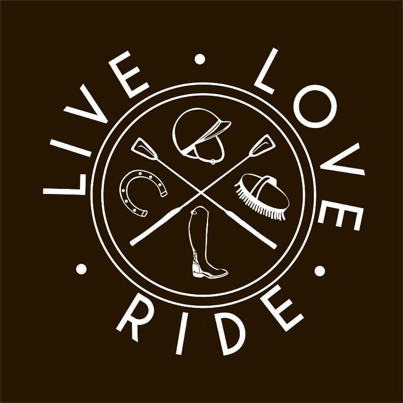 Live Love Ride Icons Póló - Ha Horse rajongó ezeket a pólókat tuti imádni fogod!