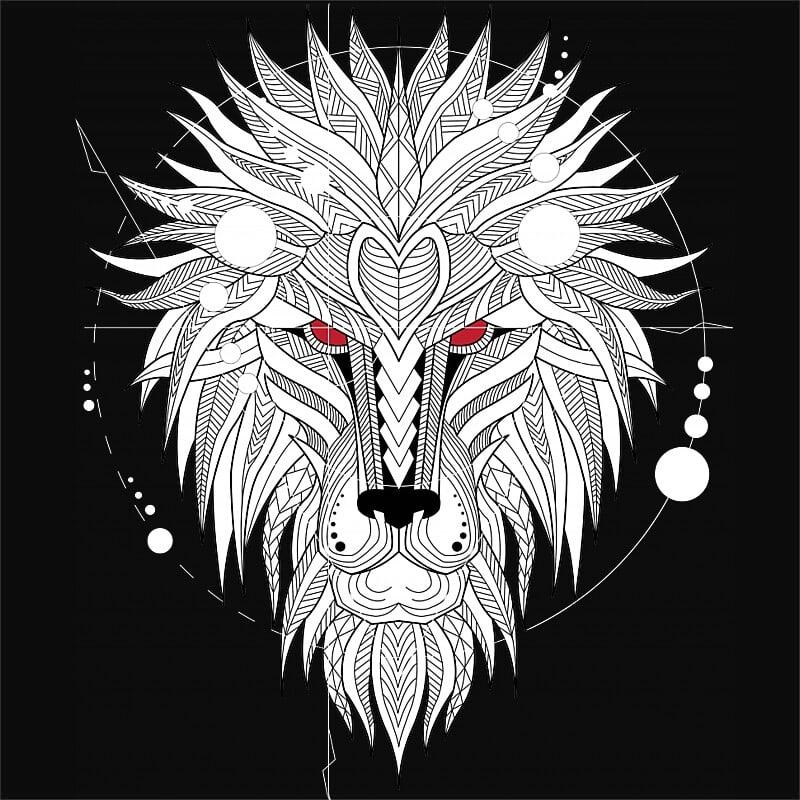 Lion geometry Póló - Ha Lion rajongó ezeket a pólókat tuti imádni fogod!