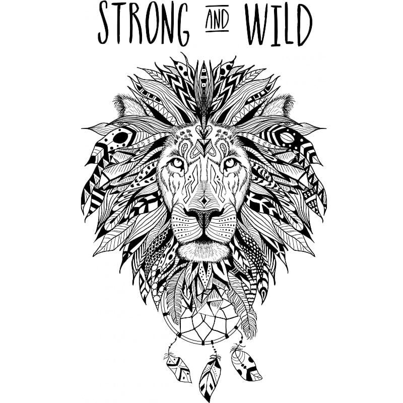 Strong and wild lion Póló - Ha Lion rajongó ezeket a pólókat tuti imádni fogod!