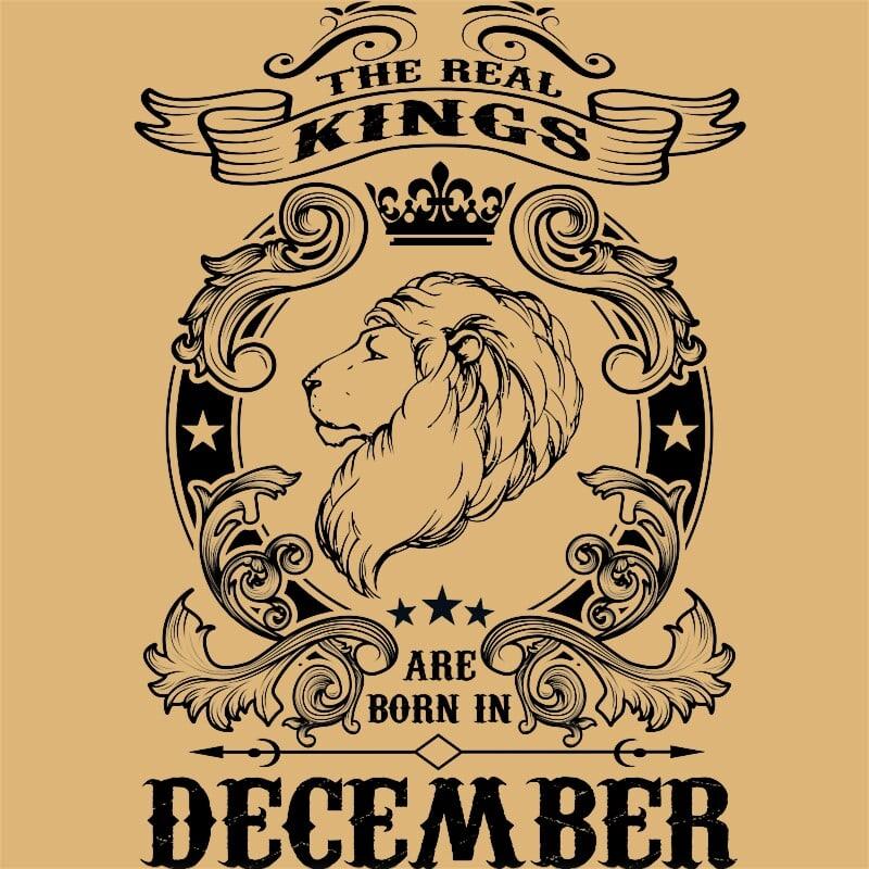 The real king lion december Póló - Ha Birthday rajongó ezeket a pólókat tuti imádni fogod!