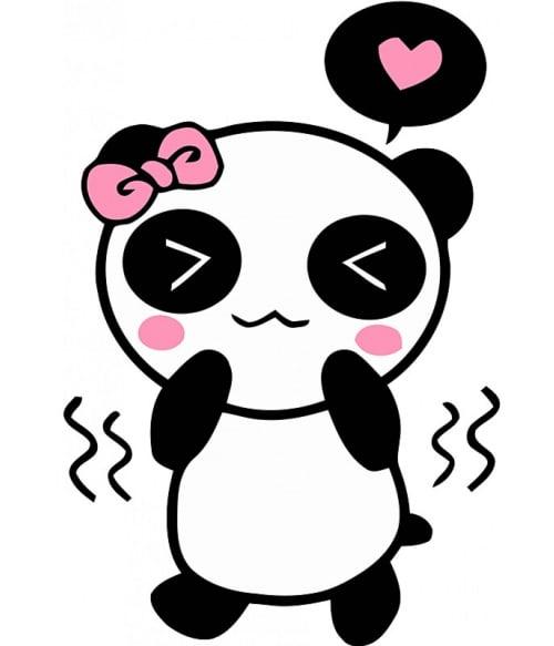 Panda Girl Póló - Ha Panda rajongó ezeket a pólókat tuti imádni fogod!