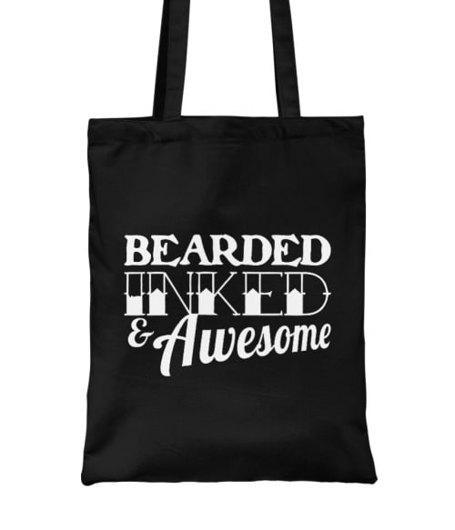 Bearded inked awesome Póló - Ha Tattoo rajongó ezeket a pólókat tuti imádni fogod!