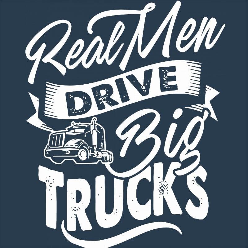 Real man Póló - Ha Truck Driver rajongó ezeket a pólókat tuti imádni fogod!