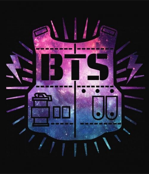 BTS Galaxy Logo Póló - Ha K-Pop rajongó ezeket a pólókat tuti imádni fogod!