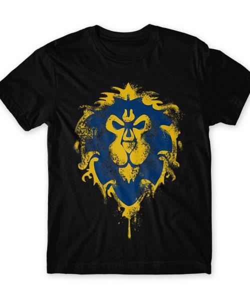 Splash Alliance Logo Póló - Ha World of Warcraft rajongó ezeket a pólókat tuti imádni fogod!