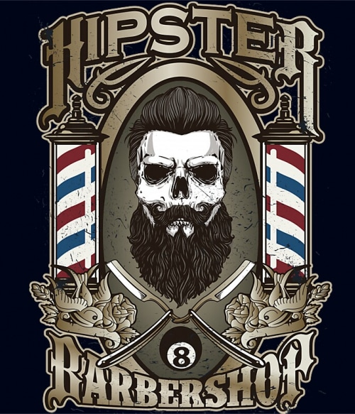 Hipster barbershop Póló - Ha Skulls rajongó ezeket a pólókat tuti imádni fogod!