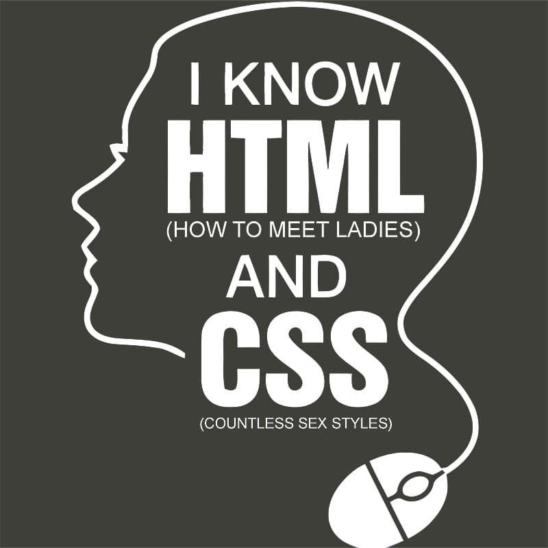 I know HTML and CSS Póló - Ha Programming rajongó ezeket a pólókat tuti imádni fogod!