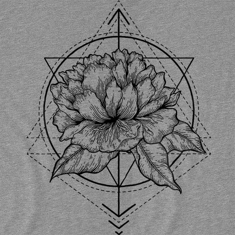Geometric flower tattoo Póló - Ha Flower rajongó ezeket a pólókat tuti imádni fogod!