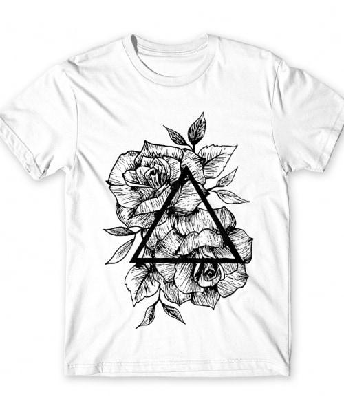 Rose and triangle Póló - Ha Flower rajongó ezeket a pólókat tuti imádni fogod!
