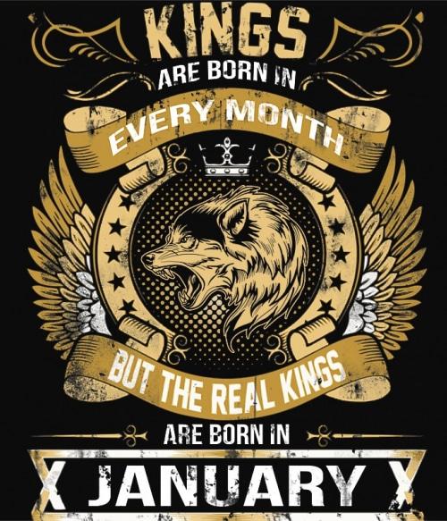 The Real Kings January Póló - Ha Birthday rajongó ezeket a pólókat tuti imádni fogod!