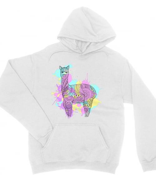 Watercolor llama Póló - Ha Llama rajongó ezeket a pólókat tuti imádni fogod!