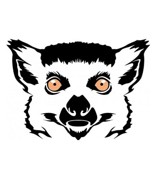 Lemur face Póló - Ha Lemur rajongó ezeket a pólókat tuti imádni fogod!